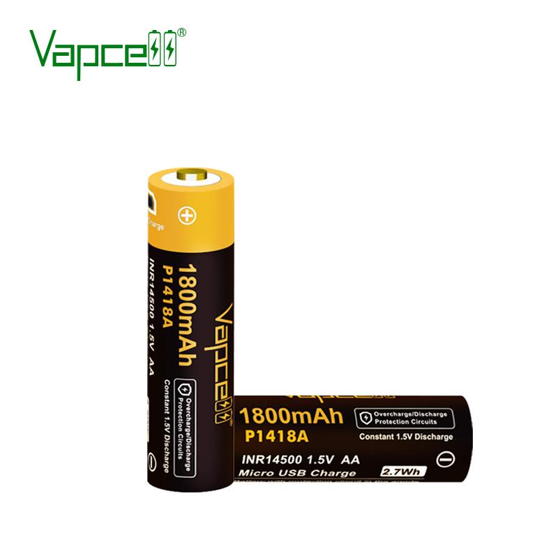 Батерия Vapcell P1418A 14500 1800mah USB, Sorbe.bg Vapcell P1418A 14500 1800mah с USB