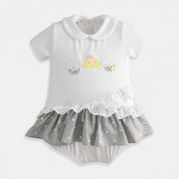 Боди рокля за бебе момиче