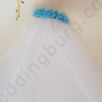 Воал със сини рози, модел DB010