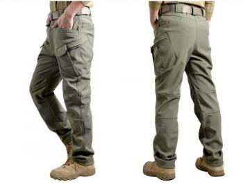 Водоустойчив термо-панталон, Маслинено-зелен, Outdoor sport