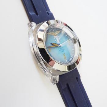 Водоустойчив часовник в тъмно син цвят S.S.Lazio