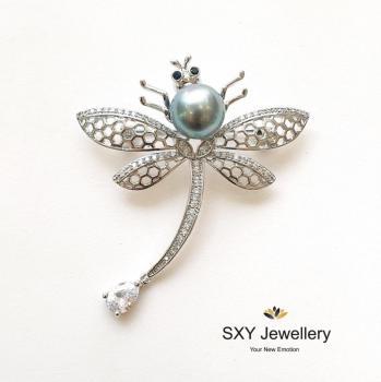 Дамска брошка с кристали BS456