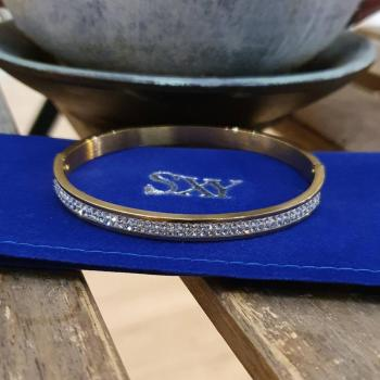 Дамска гривна от медицинска стомана и кристали SB0362