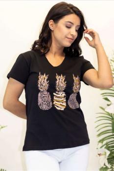 Дамска тениска с ананаси 0924