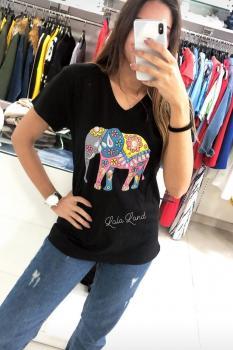 Дамска тениска с ефектен слон 0915