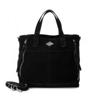 Дамска чанта от естествен велур Carmela