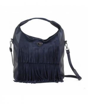 Дамска чанта с ресни от естествена кожа Xti