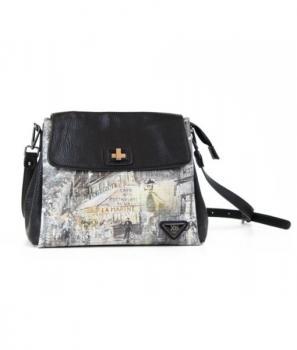 Дамска чанта с цветен десен Xti