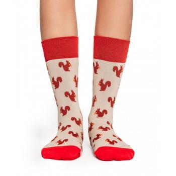 Дамски памучни чорапи с мотив на катерички