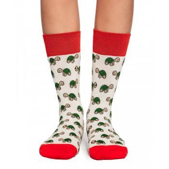 Дамски памучни чорапи с мотив на костенурки