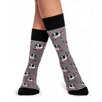 Дамски памучни чорапи с мотив на кравички