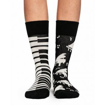 Дамски памучни чорапи с мотив пиано