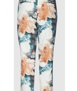 Дамски панталон 7/8 дължина с флорален десен Pulz
