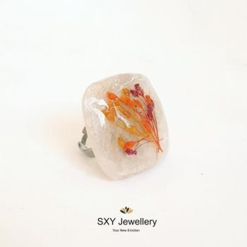 Дамски пръстен от бижутерийна смола PB1717