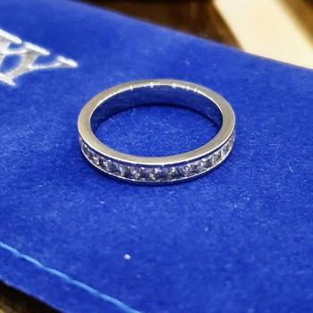 Дамски пръстен от медицинска стомана SR4136