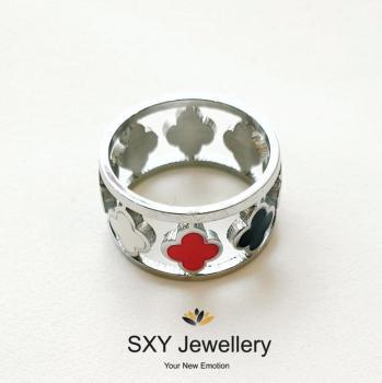 Дамски пръстен с емайл SR781