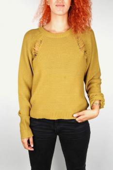 Дамски пуловер в цвят горчица Cheap Monday