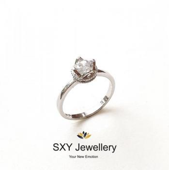 Дамски сребърен пръстен SR2689