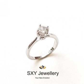 Дамски сребърен пръстен SR2691