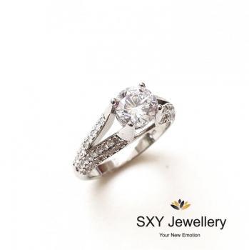 Дамски сребърен пръстен SR2849