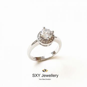 Дамски сребърен пръстен SR2859