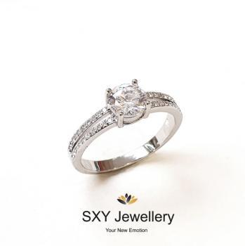 Дамски сребърен пръстен SR2860