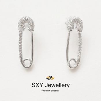 Дамски сребърни обеци SE08501