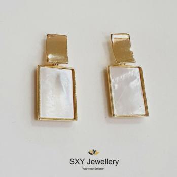 Дамски сребърни обеци SE19021
