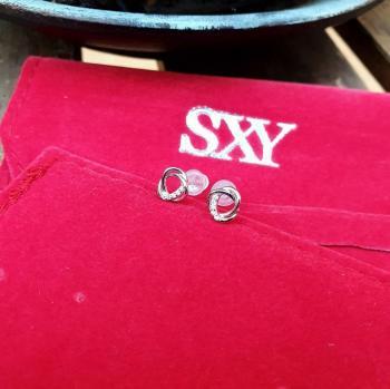 Дамски сребърни обеци SE3062
