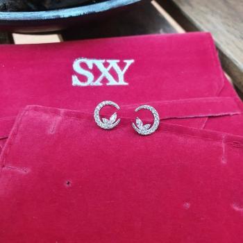Дамски сребърни обеци SE3072