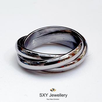 Дамски троен пръстен от стомана SR15109