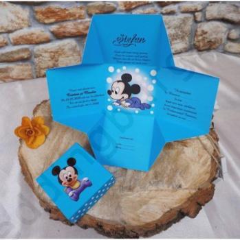 Детска покана<br/>Мики Маус в синьо, модел 3620B