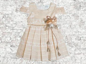Детска рокля паднал ръкав 4 и 5 г