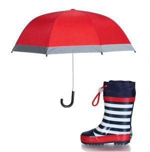 Детски гумени ботуши lines и чадър red