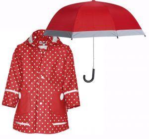Детски дъждобран и чадър red