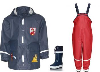 Детски дъждобран пожарна в сет 4