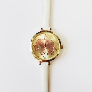 Детски часовник с каишка от естествена кожа