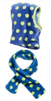 Детски шалове и шапка dots