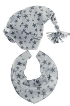 Детски шалове и шапка grey stars 1