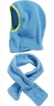 Детски шал и шапка aqua blue