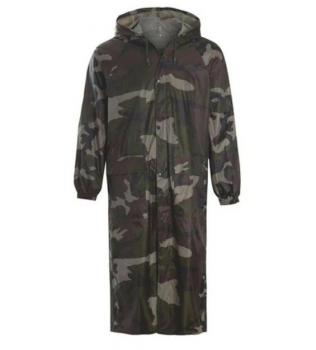 Дълго яке - Дъждобран, камуфлажен , Outdoor sport