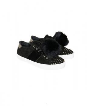 Ежедневни, дамски обувки с пухени топки Cream