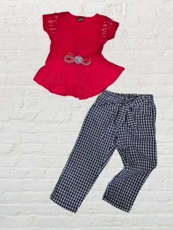 Елегантен комплект туника с летен панталон 2,3,4,5 г