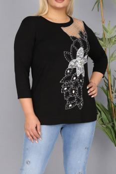 Елегантна блуза с флорален мотив