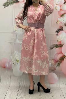 Елегантна рокля в розово