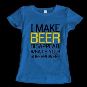 Забавни тениски I make beer disappear