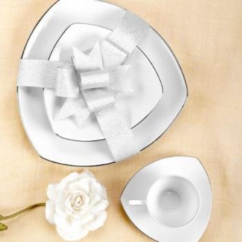 Комплект за сервиране на кафе & чай tric white