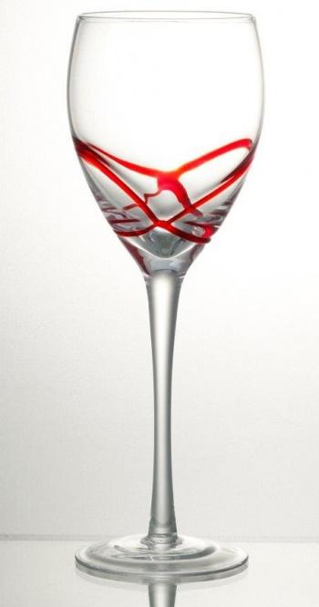 Комплект 6 чаши за вино със столче 365 мл серия: x &8211 tream red