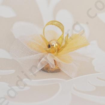 Късмети за сватба в златисто SK12