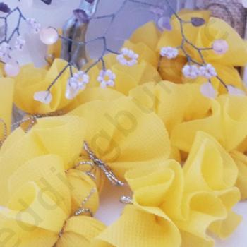 Късмети за хвърляне в жълт цвят